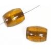 Resin Beads 19x14mm Barrel Cracked Topaz